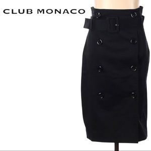 🆕 Club Monaco | Belted Button Down Pencil Skirt - Size 6